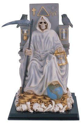"10 3/4"" Santa Muerte wealth White 