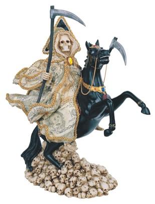 13 Quot Santa Muerte Money Black Horse Gsc Imports