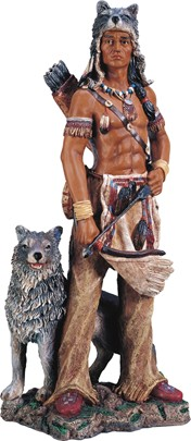 Indian Warrior with Wolf | GSC Imports