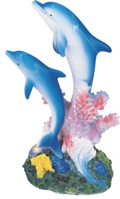 Blue Dolphins With Coral Gsc Imports
