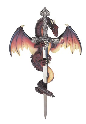 Dragon Wall Plaque with Sword