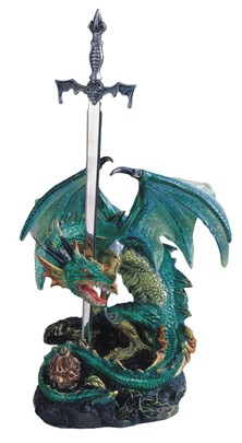 Green Dragon with Sword