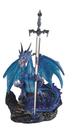 Blue Dragon with Sword