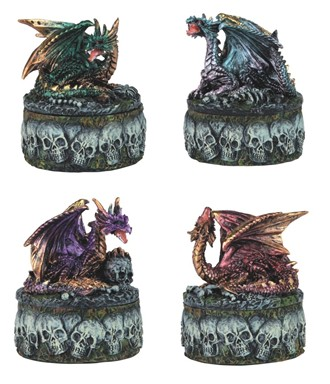 Mini Dragon/Skull Trinket Box