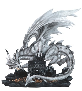 Large-scale White Dragon with Trinket Box