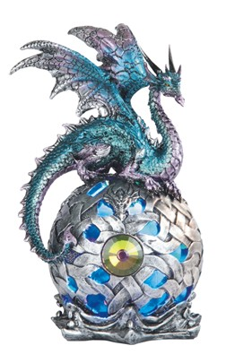Blue Purple Dragon Globe w/LED