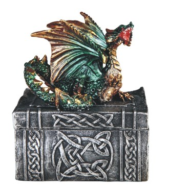 Green Dragon Trinket Box