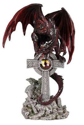 Red Dragon with Cross---