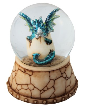 Blue Dragon Egg Snow Globe