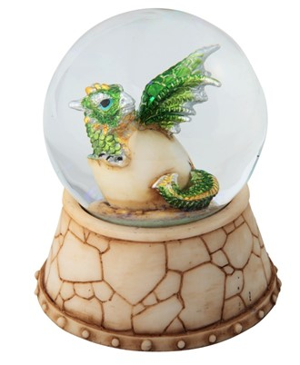 Green Dragon Egg Snow Globe