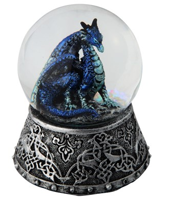 Blue Dragon Snow Globe