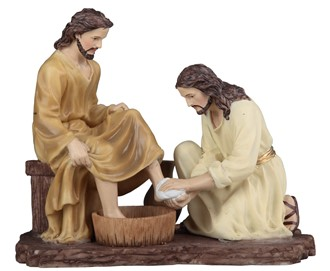 "7"" Jesus Washing Disciple's Feet"