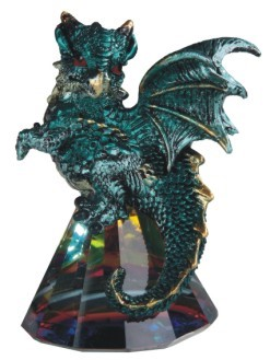 Water Blue Dragon on Pyramid Glass