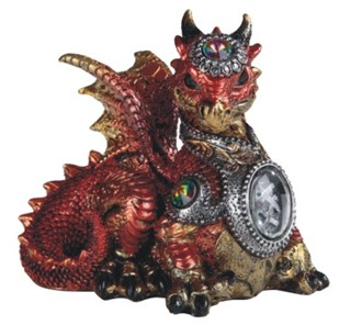 Red Dragon with Gem