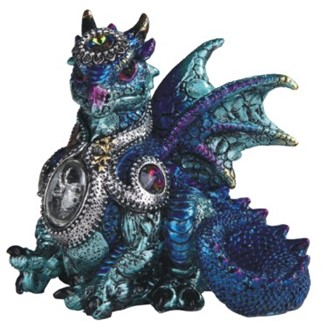 Blue Dragon with Gem