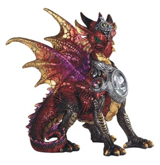 Red Dragon in Armor