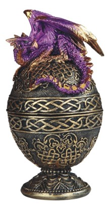 Purple Dragon Egg Trinket Box