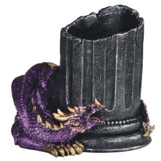 Purple Dragon Pen Holder