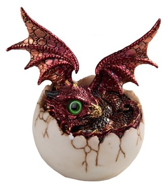 "4"" Red Dragon Egg"