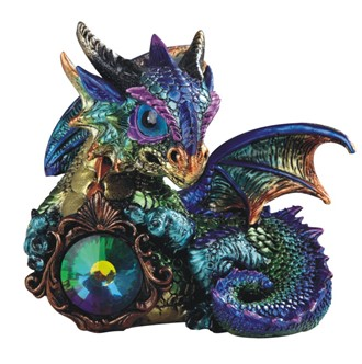 "6"" Purple/Green Dragon Gem"