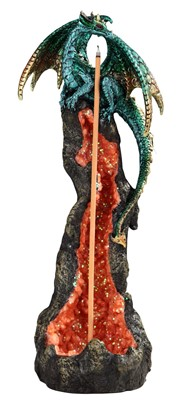"10"" Green Dragon Incense Burner"