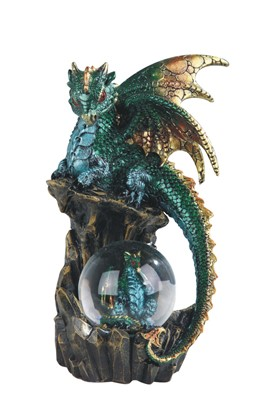"8"" Green Dragon Snow Globe"