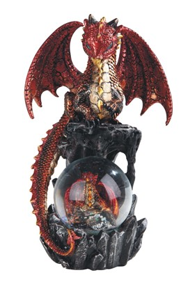"8"" Red Dragon Snow Globe"
