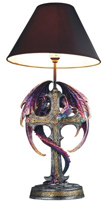 "24"" Purple/Blue Dragon Lamp"