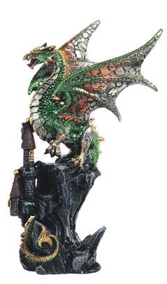"8 1/4"" Green Dragon on Castle"