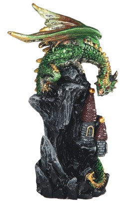 "4"" Green Dragon on Castle"