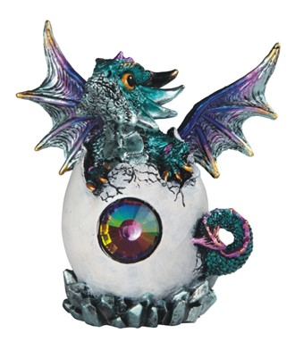 "5"" Blue Dragon in Egg"