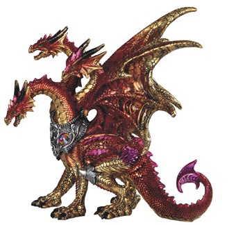"10"" 3-Head Red Dragon"