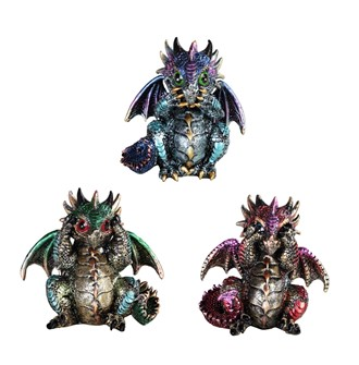 "4"" Punk Dragon 3 pc Set"
