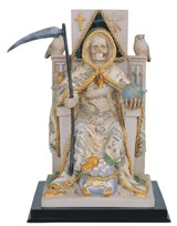 "View 10"" Santa Muerte-Money Sitting"