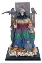 "View 10 3/4"" Santa Muerte wealth Rainbow"