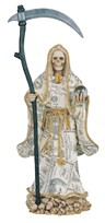 "View 17 1/2"" Santa Muerte-Money"