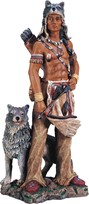 View Indian Warrior with Wolf