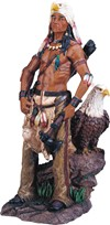 View Indian Warrior with Eagle