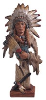 View Indian Chief Bust with Pipe