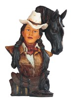 View Cowgirl Horse Head---
