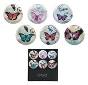 View Magnets -Butterfly Round S/6