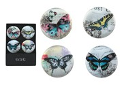 View Magnets -Butterfly Round S/4