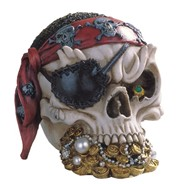 View Pirate Skull with Red Bandana