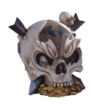 View Pirate Skull with Arrows