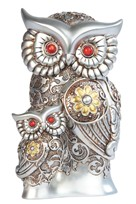 View Owl -Silver&Gold with Baby