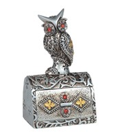 View Owl -Silver, Square Trinket Box
