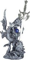 View Silver Dragon with Sword