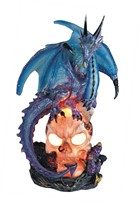 View Blue Dragon with Skull LED