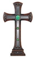View Mirror Cross with Gem