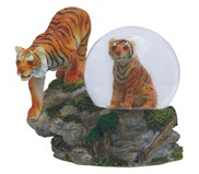 View Snow Globe Bengal Tiger with Cub